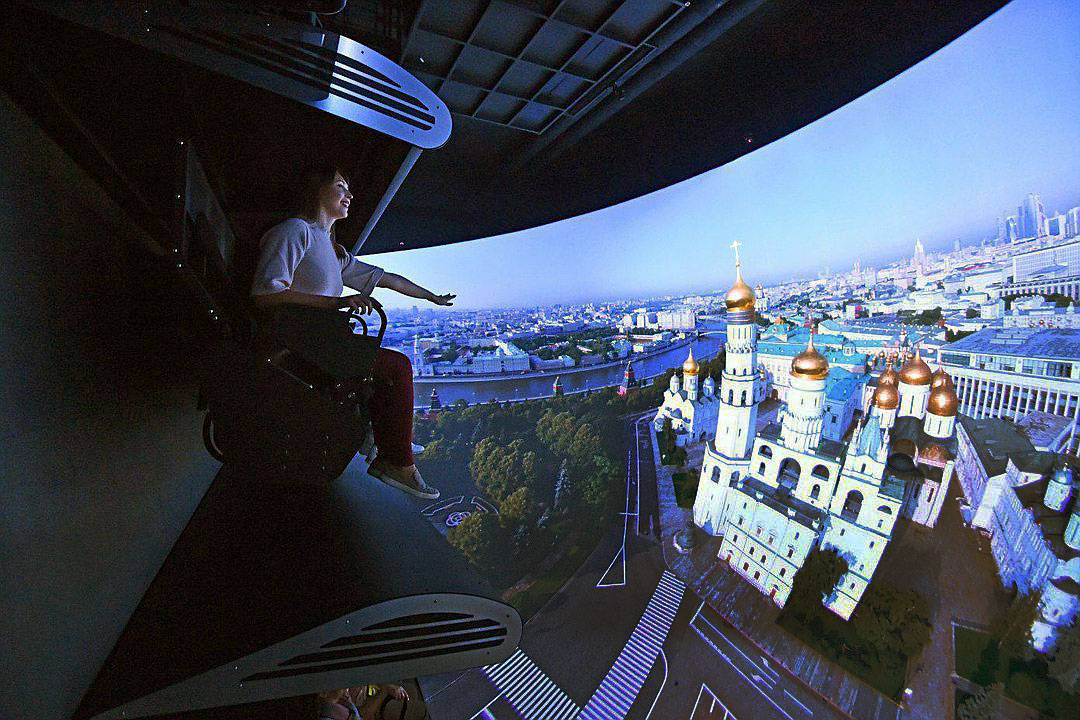 Soaring over Moscow